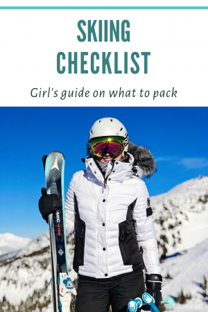 Pin skiing checklist blog to Pinterest