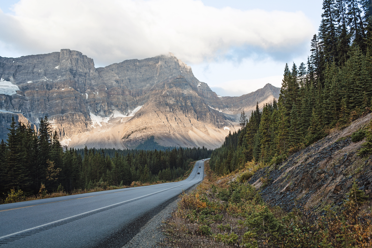 """The views from the Icefields Parkway. This was the perfect """"engagement moon"""""""