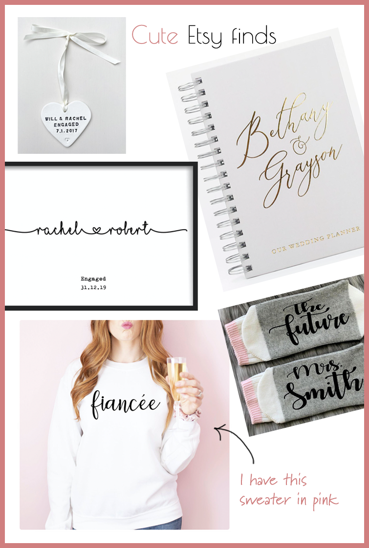 Cute Etsy engagement gift ideas